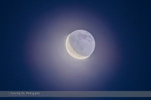 Waning Moon in the Morning Sky