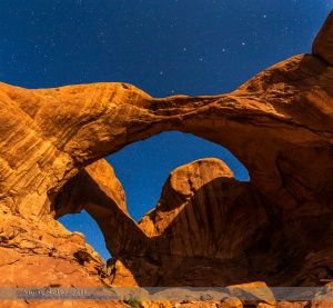 Big Dipper over Double Arch