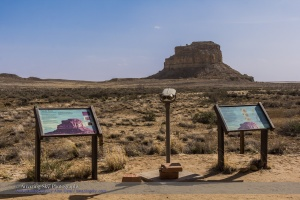 Fajada Butte Viewpoint at Chaco Canyon