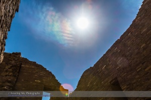 Iridescent Clouds at Chaco Canyon