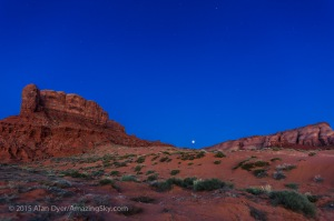 Lunar Eclipse at Dawn from Monument Valley