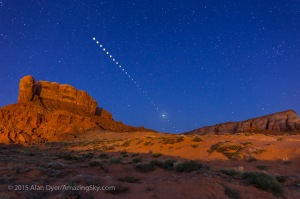 Lunar Eclipse Sequence from Monument Valley