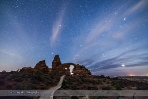 Photographer Lighting Turret Arch