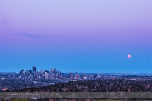 Full Moonrise over Calgary