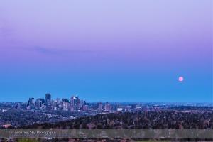 Full Moonrise over Calgary