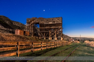 Venus over the Atlas Coal Mine