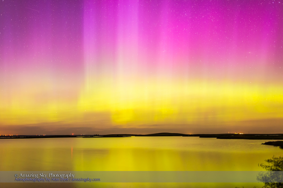 Reflections of Solstice Planets and Northern Lights – The Amazing Sky