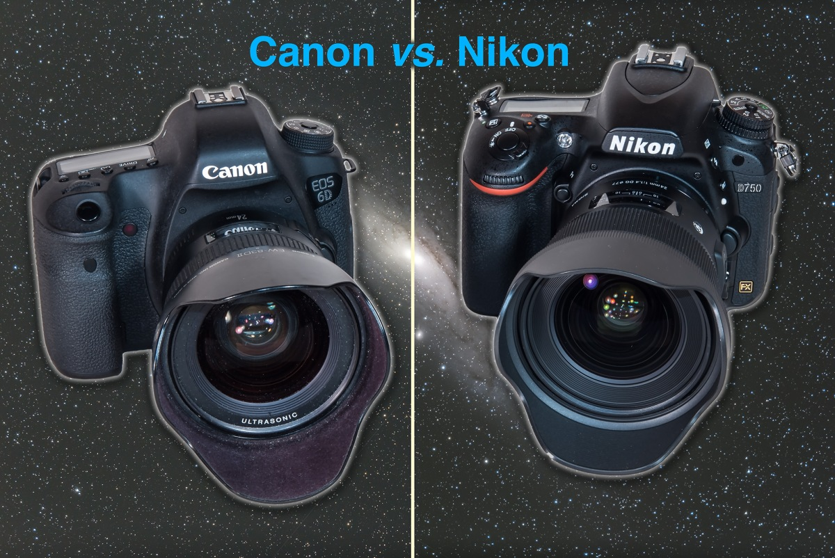 Canon vs nikon for astrophotography the amazing sky for Camera and camera
