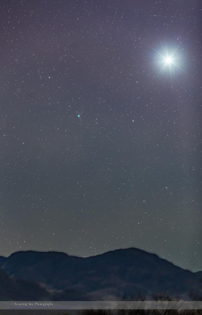 Comet Catalina with Venus at Dawn