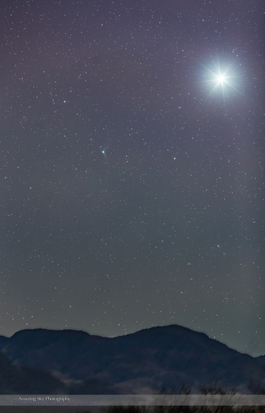 Comet Catalina with Venus at Dawn