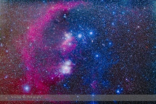 Orion Belt and Sword Mosaic