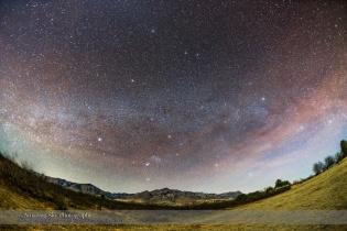 Winter Sky Setting over the Chiricahuas