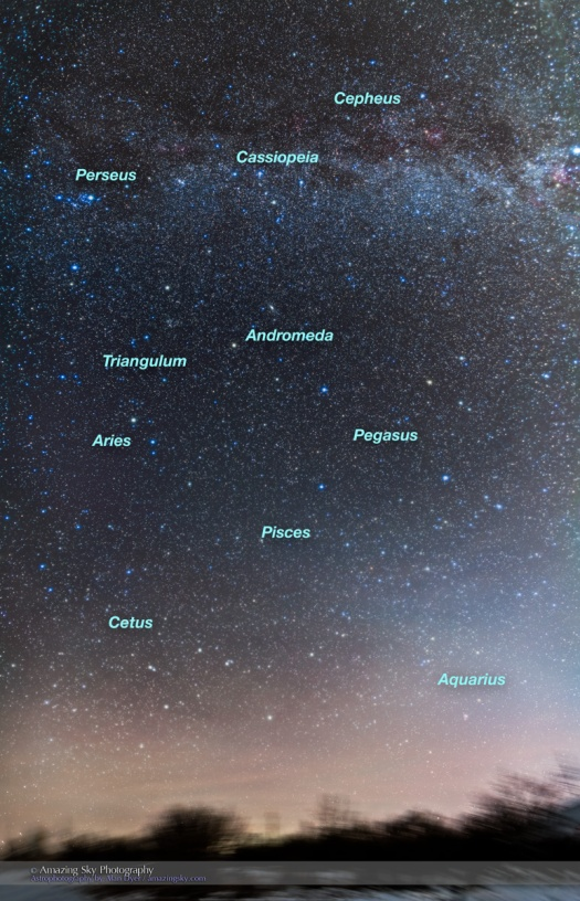 Mosaic of the Northern Autumn Constellations (with Labels)