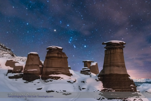 Orion Over the Snowy Hoodoos