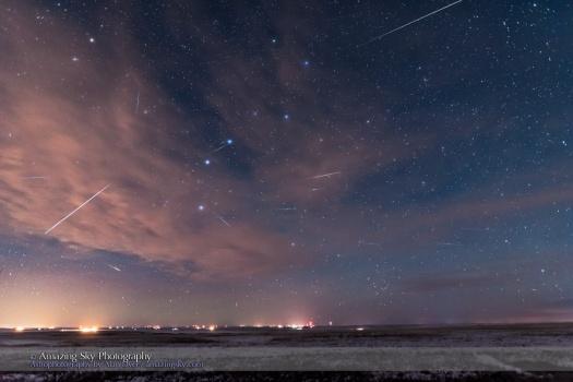 Quadrantid Meteor Shower Composite
