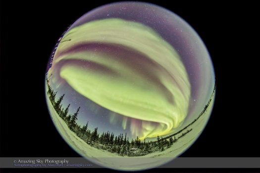 All-Sky Aurora from Churchill (Feb 5, 2016)