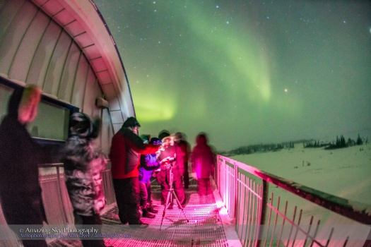 Arctic Skies Group Under the Aurora