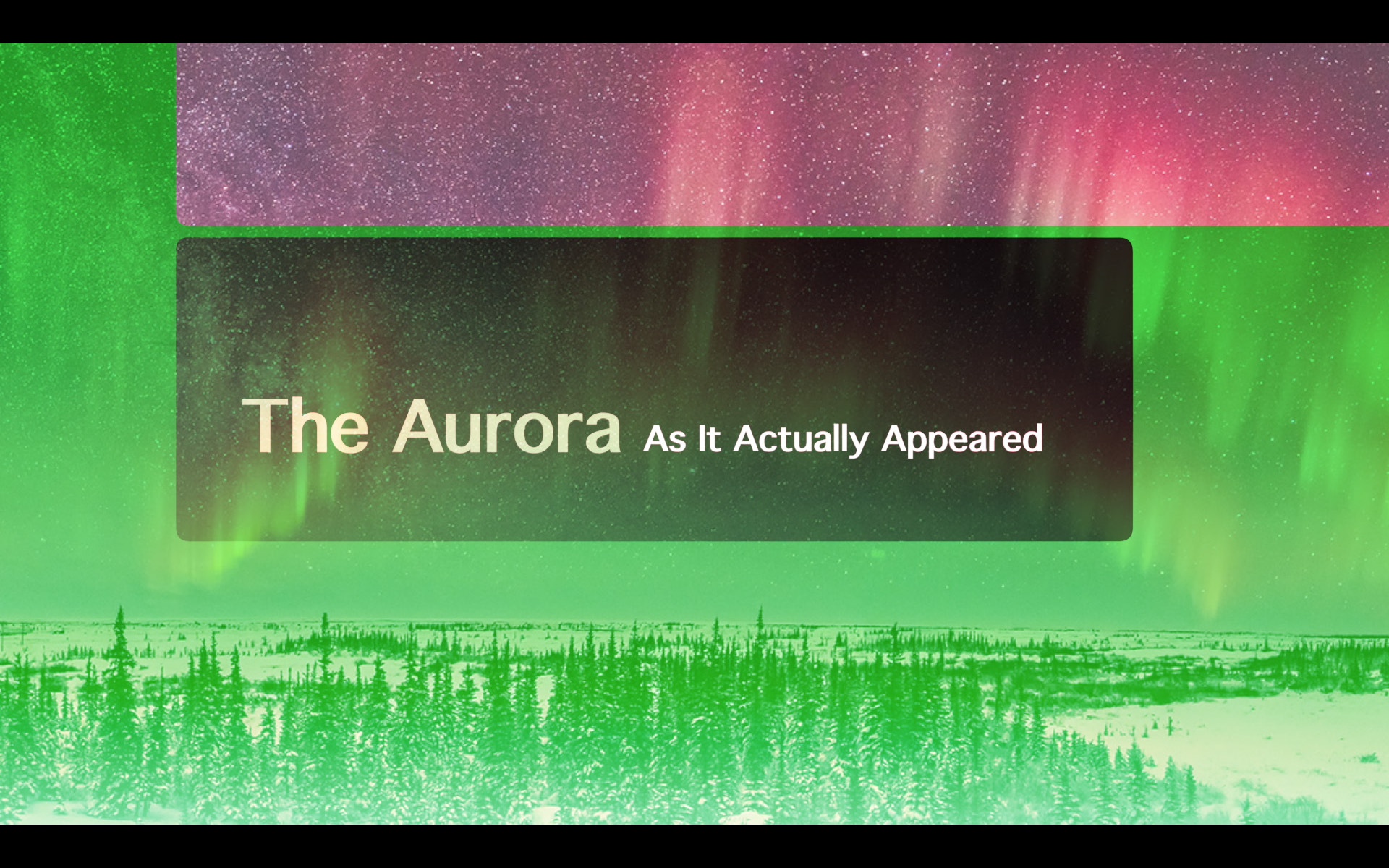 Aurora As It Appeared Title