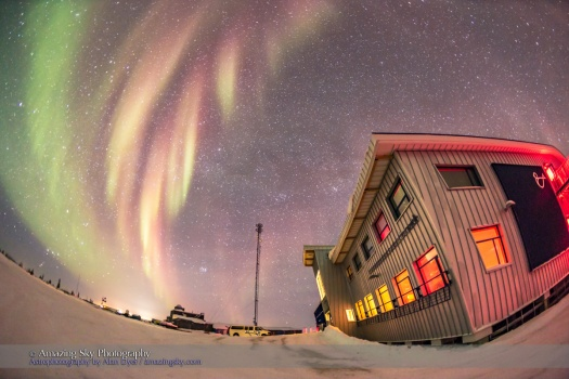 Aurora over Churchill Northern Studies Centre #1 (Feb 8, 2016)