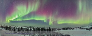 Northern Lights Panorama #2 from CNSC Deck