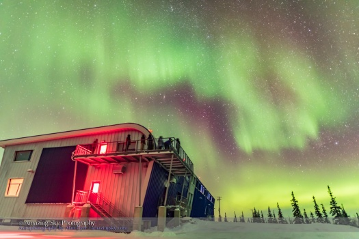 Observing the Aurora on Deck at CNSC