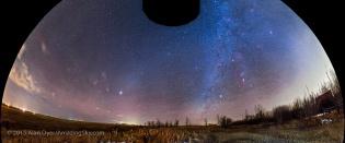 Winter and Spring Sky Panorama