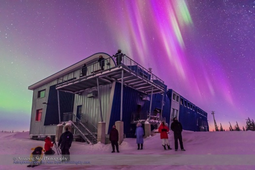 CNSC Group with Purple Aurora (March 6, 2016)