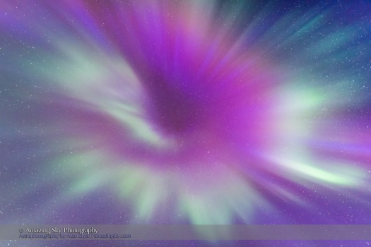 Converging Colourful Curtains of Aurora
