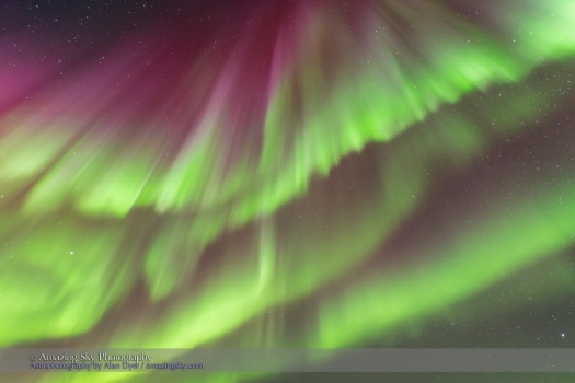 Multiple Curtains of Aurora