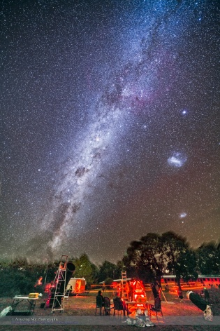 Dark Emu Rising over OzSky Star Party