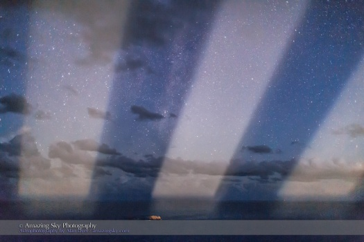 Lighthouse Beams over the Starry Sea