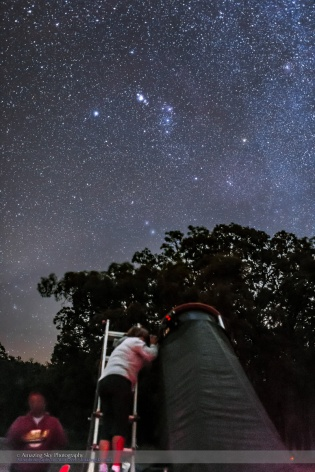 Observer Looking at Orion from Australia