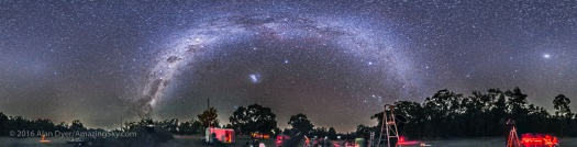 Panorama of a Southern Hemisphere Star Party