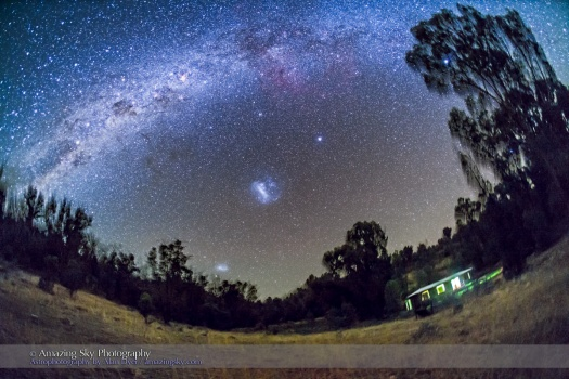 The Southern Milky Way and Magellanic Clouds