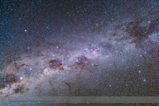 Southern Milky Way from Alpha Cen to False Cross