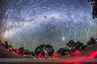 Star Trails over the OzSky Star Party