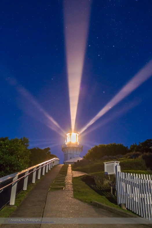 Lighthouse Beams by the Southern Cross