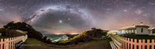 Milky Way over Smoky Cape Panorama