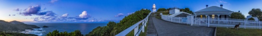 Smoky Cape Lighthouse at Twilight Panorama