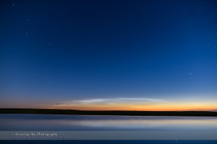 Noctilucent Clouds over Pond