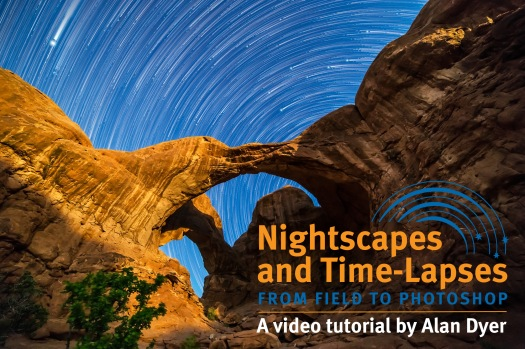 Star Trails Behind Double Arch