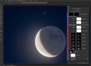 Moon & Aldebaran Screen
