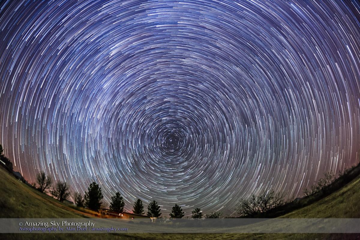 Arizona Star Trails - Circumpolar Looking North