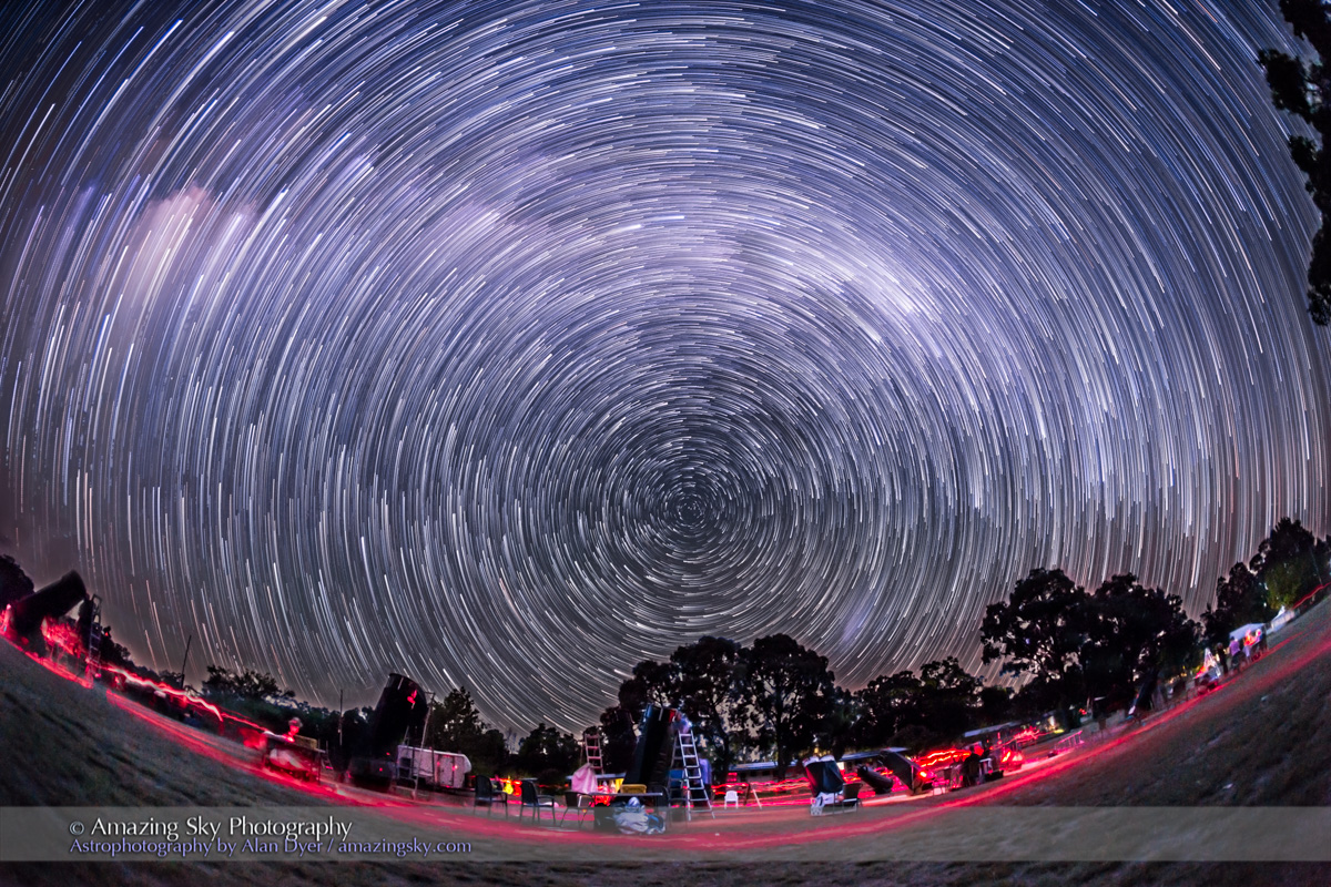 Southern Sky Star Trails - OzSky Looking South
