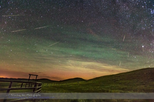Perseid Meteor Shower Looking North (2016)