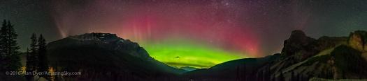 Aurora over Desolation Valley Panorama