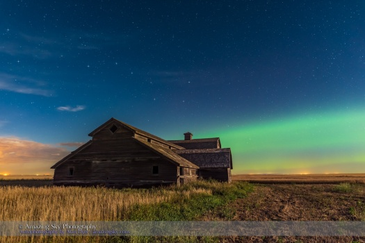 Big Dipper and Aurora over Old Barn #1