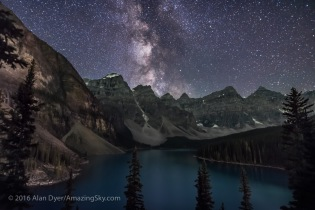 Milky Way over Moraine Lake