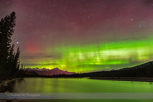 Aurora over Athabasca River