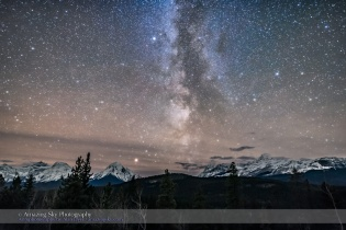 Milky Way over Athabasca Pass